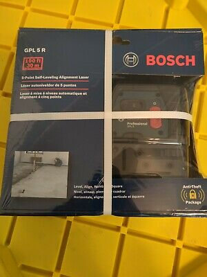 Bosch Gpl 5 R Self Leveling 5-point Alignment Laser Plumb Square Factory Sealed