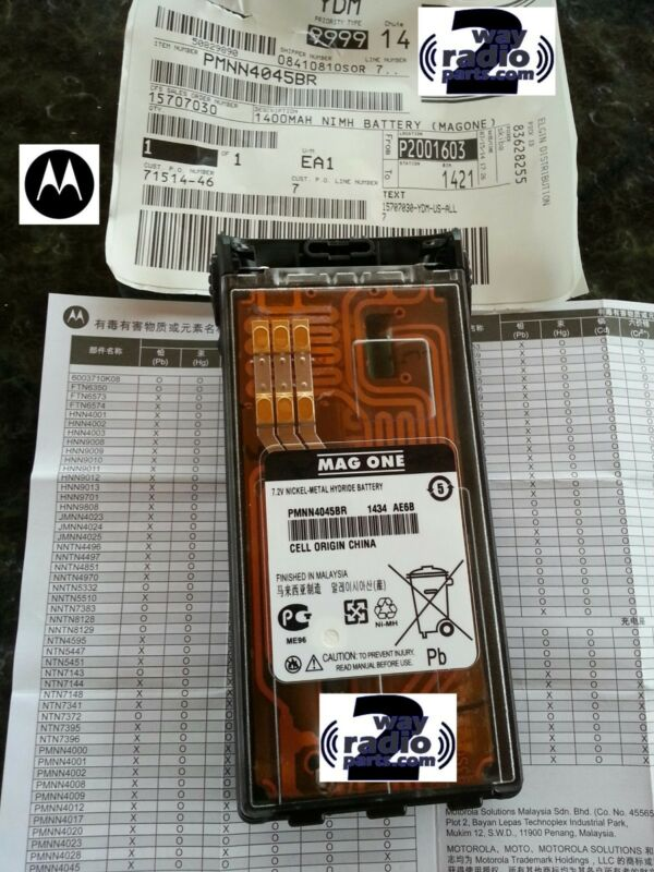 New Real OEM Motorola Battery for HT1250 LS + HT750, HT1550, PR860 VHF UHF Radio