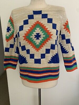 Lauren Ralph Lauren Aztec Pull Over Sweater Sz M