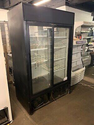 True Gdm-41 2 Door Sliding Glass Door Refrigerator Merchandiser Cooler Used