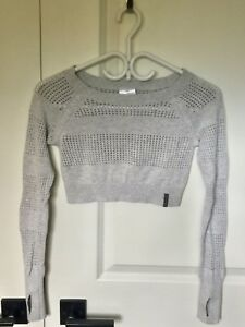 Ivivva LS cropped sweater sz 10