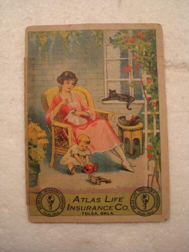 Vintage Needle Book American Atlas Life Insurance advertising sewing