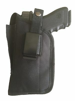 PINK w//BLACK IWB Leather Gun Holster YOUR CHOICE:rh,lh-laser-slide-cant-belt-mag