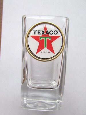 Texaco Gas Shot Glass , Texaco Gas Logo Shot Glasses,  Texaco shot glass