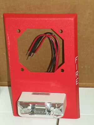 1 Wheelock Lsp-24-vfr Fire Alarm Remote Strobe Retrofit Plate 21-30vdc