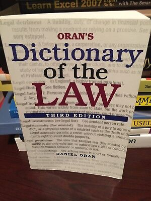 Orans Dictionary of the Law, 3E