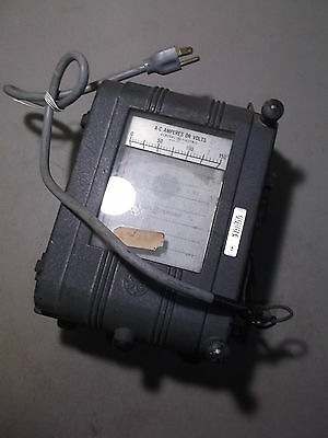 General Electric Ac Amperes Or Volts Ge 18800 Vintage Voltage Meter