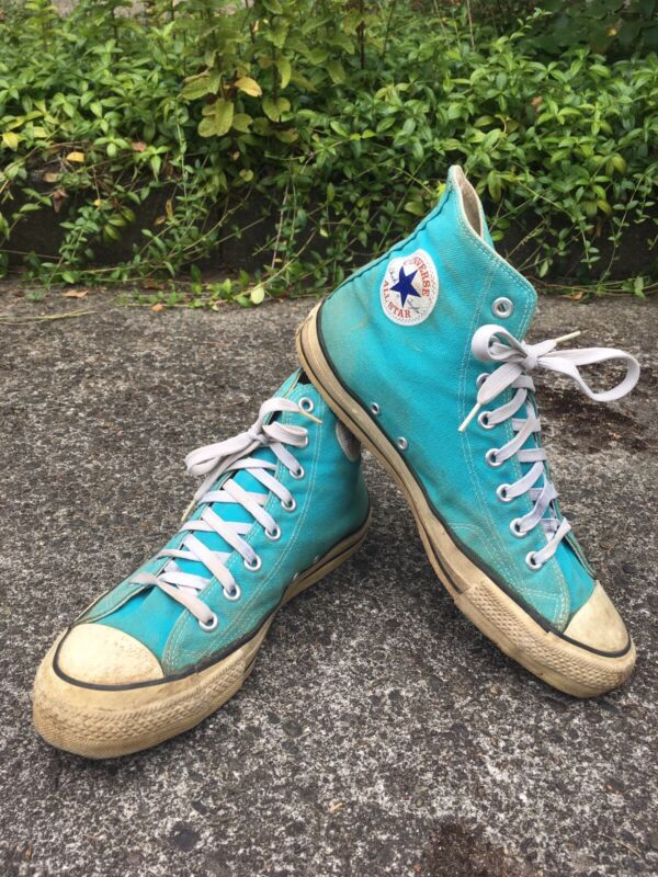 Vintage Converse Chuck Taylor Made In Usa 80s Turquoise Mens 9.5
