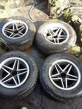 Cheviot Rebels. Set of four old school rims and good tyres Galston Hornsby Area Preview