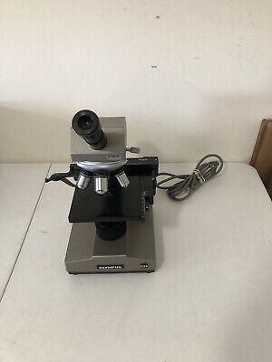 Olympus Ch Chbs Monocular Microscope W 10x 20x 40x 100x Objectives 10x Eyepiece
