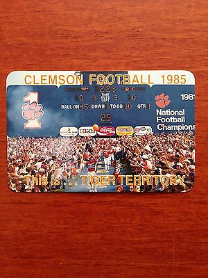 CFB 1985 CLEMSON TIGERS Football Schedule College FB