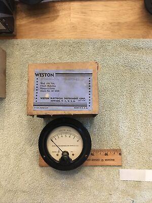 Vtg Radio Panel Meter Weston Volts Ac 0-8 Model No. 476 Me459