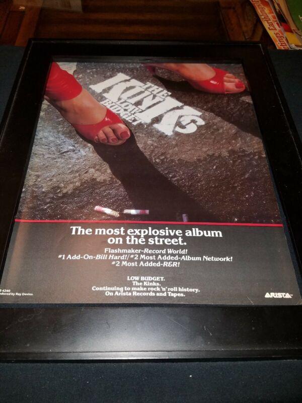 The Kinks Low Budget Rare Original Promo Poster Ad Framed! #3