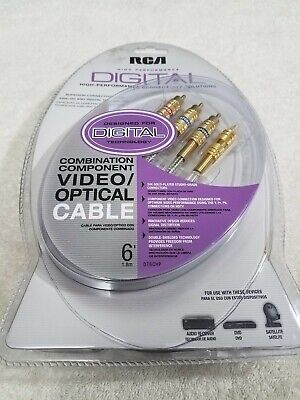 RCA High Performance Digital Combination Component Video/Optical Cable