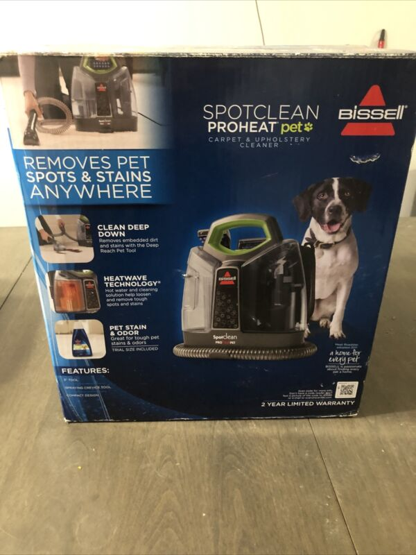 Bissell SPOTCLEAN proheat pet 5207W Carpet Cleaner NEW IN BOX sealed