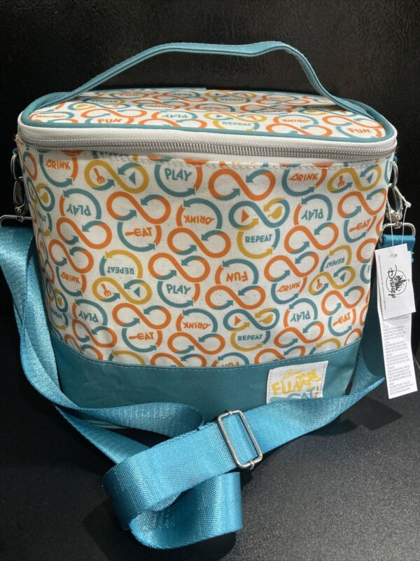 Disney Parks Fun Eat Repeat Mickey Lunch Box Insulated Food Bag WDW Cooler - NEW