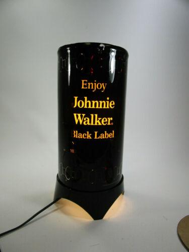 Vintage Johnnie Walker Black Label Motion Rotating Advertising Lamp Light Retro