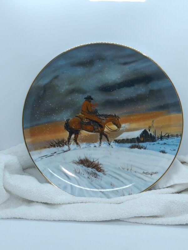 Austin Deuel Plate Cowboy Christmas days of the west series