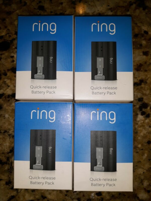 RING QUICK RELEASE BATTERY PACK (Lot of 4) Brand New