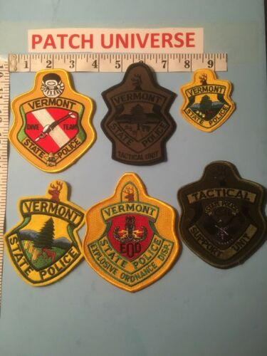 LOT OF 6 DIFFERENT VERMONT STATE POLICE SHOULDER PATCHES  N006