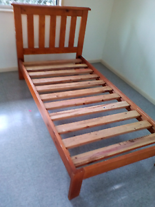 Single solid wooden bed $50 Moulden Palmerston Area Preview