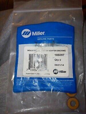 2 Pcs Miller 185097 Insulator Contact Tip Adapter Xr-edge Series Mig Guns Part