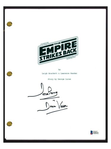 David Prowse Signed Autographed STAR WARS THE EMPIRE STRIKES BACK Script BAS COA