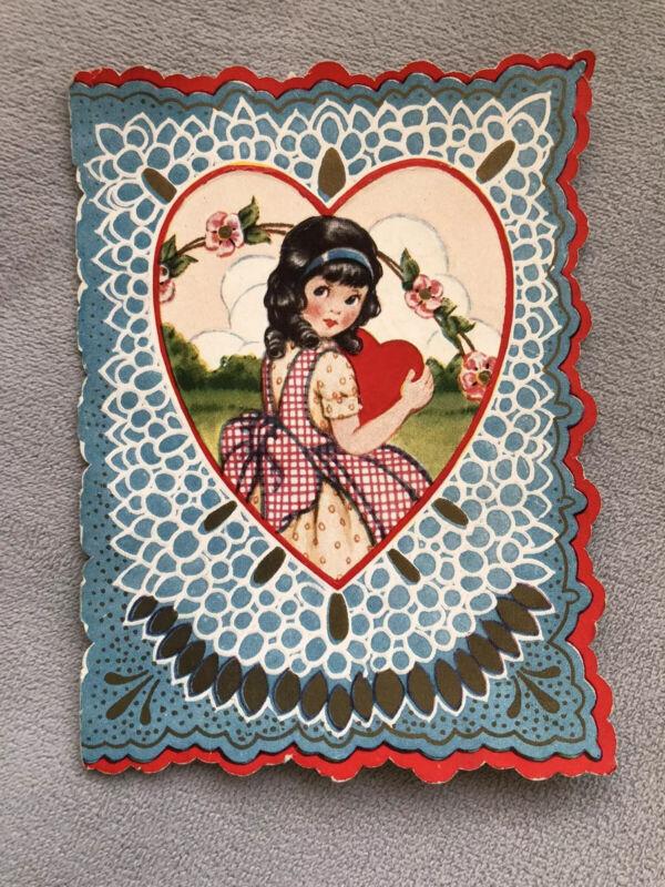 Antique/vintage Valentine's Card, Used