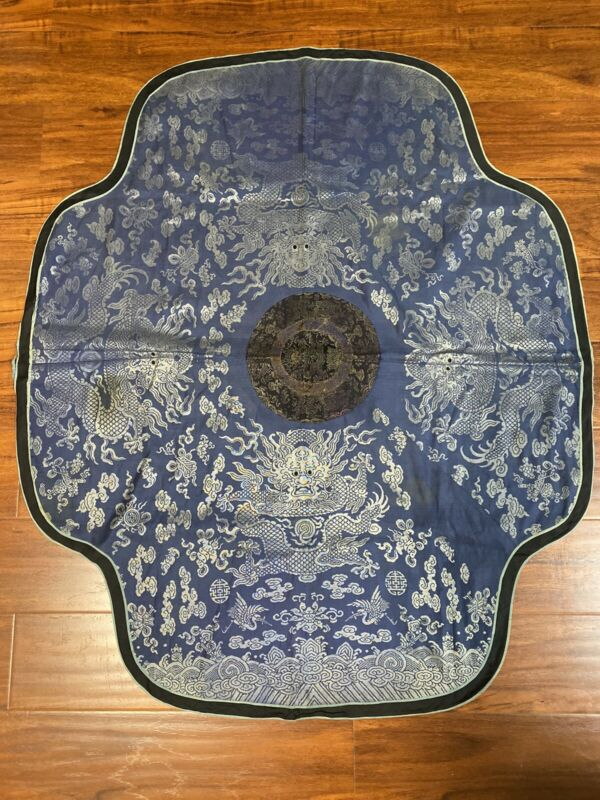 A Rare Antique Chinese Imperial Silk Brocade Five Claws Dragon Qing Dynasty