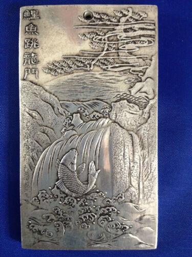 Chinese Old Tibet Silver Gold wanliang  Amulet Bullion Statue Thangka Netsuke  A