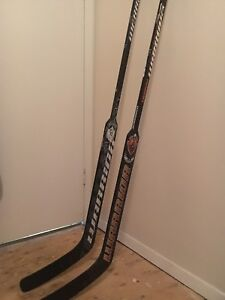 Warrior goalie sticks