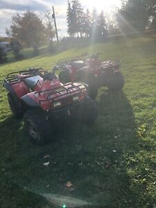 2 Honda 300 Fourtrax ATVs