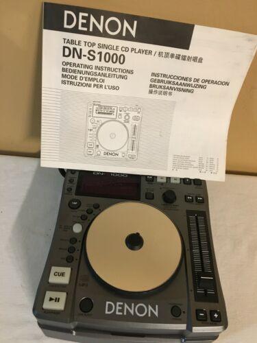 DENON DN-S1000 DJ Tabletop Single CD Player