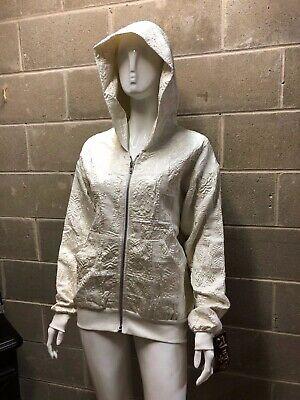 SHRINE UNISEX ROCKER SKATER METAL TECHNO EMO RAVE ZIPPER WOVEN HOODIE JACKET Activewear