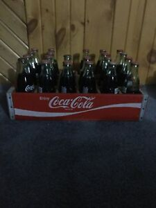 Coke cola crate and bottles