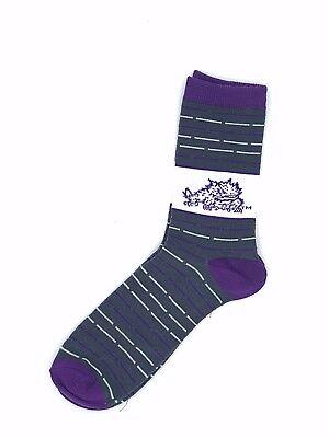 TCU Horned Frogs NCAA Thin Unisex Dress Socks - Tcu Apparel