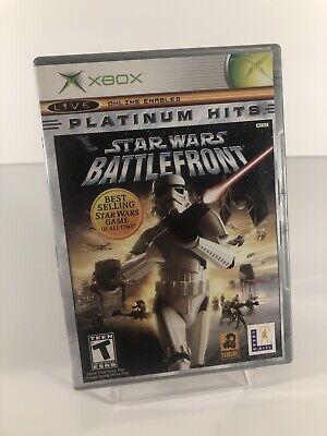 Star Wars Battlefront (Original Xbox, Platinum Hits) COMPLETE Works Tested!
