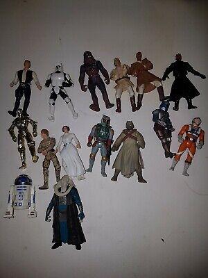 Star Wars Figure Bundle Obi Wan - r2d2 Chewbacca droid