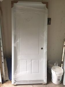 """Brand New White 32"""" Exterior / Entry Door (Pre-Hung)"""