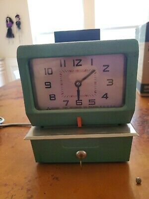 Factory Time Clock Recorder Punch Clock Acroprint For Parts Repair 125rr4