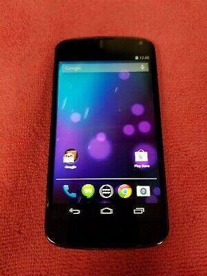 LG Nexus 4 8GB Black LG-E960 (Unlocked) GSM World Phone VG141
