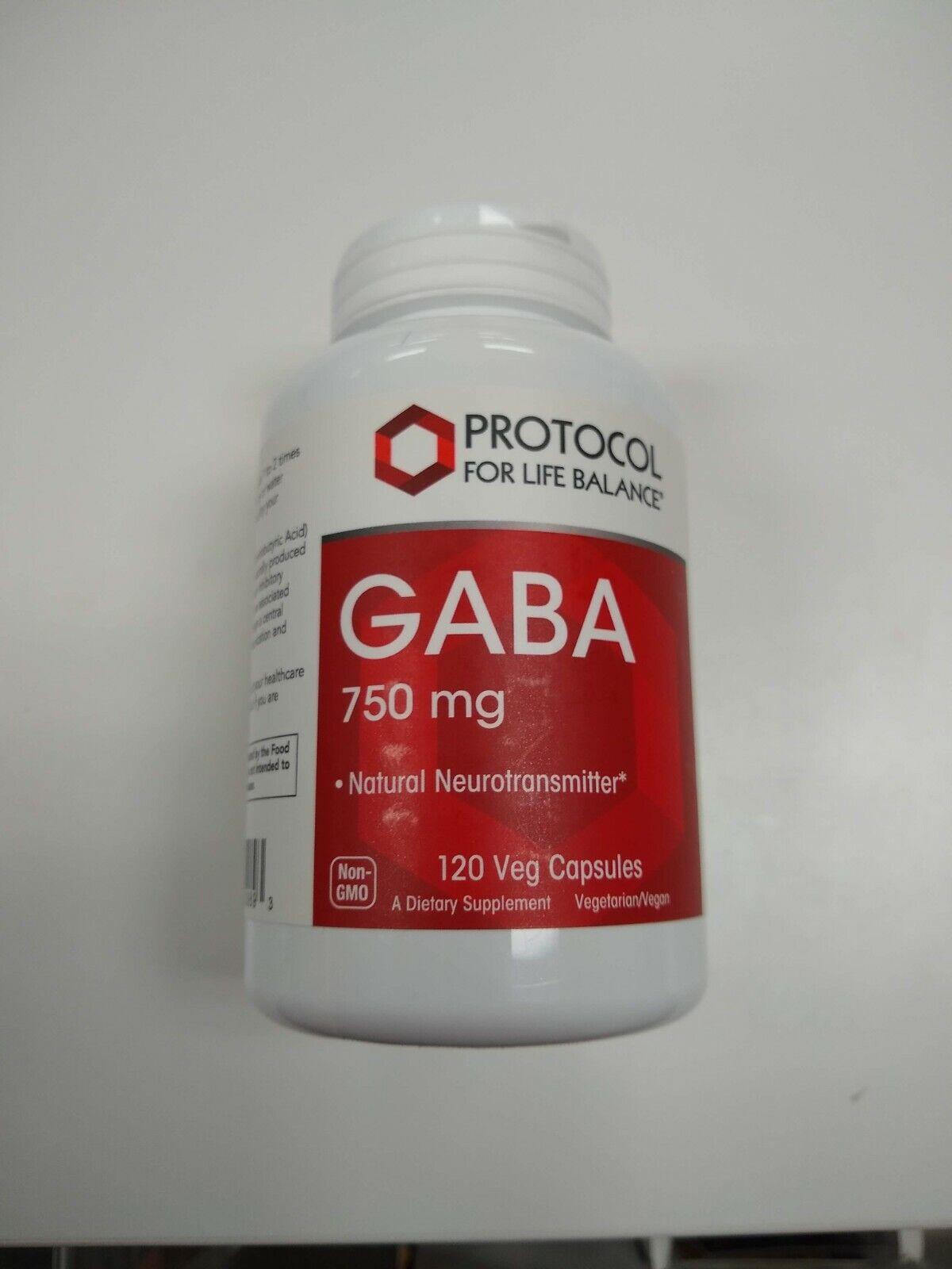 Protocol For Life Balance GABA 750mg 120 Capsules