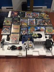 Nintendo GameCube  Lot 19 games and system