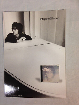 "John Lennon Imagine remastered CD 5""X7"" Promo Postcard VG+ condition"