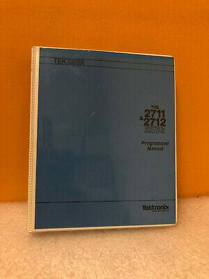 Tektronix 070-8132-01 2711 2712 Spectrum Analyzer Programmers Manual