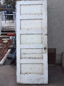 Antique 5 Panel Solid Wood Door