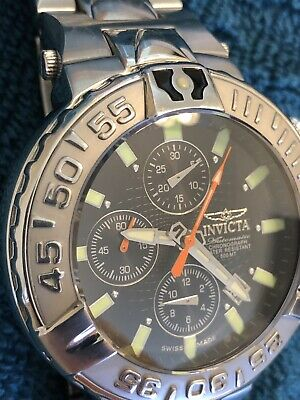 Super Rare Invicta Subaqua ii Model 2872 Auto Swiss Made Valjoux 7750