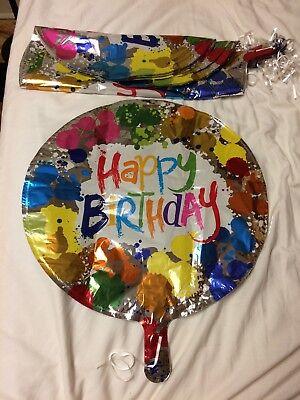 Tye Dye Balloons (Happy Birthday Balloons , Set Of 25 Tye Dye 18 Inch Happy Birthday)