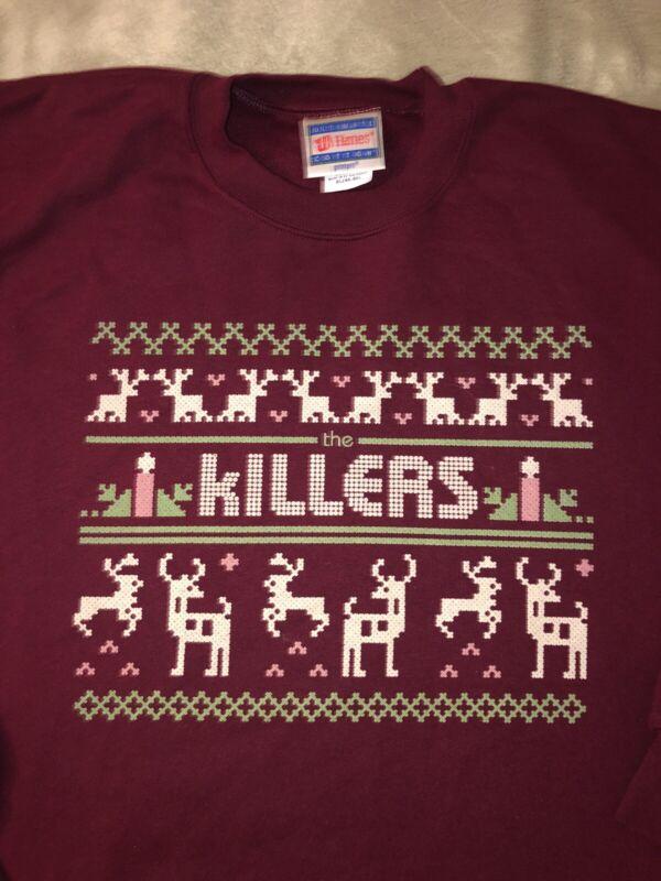 The Killers Christmas XL Sweater NEW Brandon Flowers Mirage Hot Fuss Sams Town