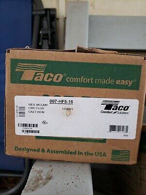 Taco Cast Iron Cartridge Circulator Pump 007-hf5-16 - 125 Hp 115v